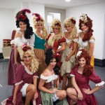 Les Miserables dancers in dressing room