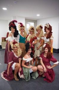 Les Miserables dancers in dressing room