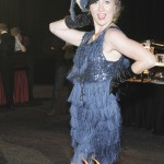 Fancy Flapper Charleston dancer in blue