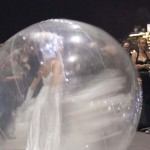 "Dreampshere characters perform inside giant inflated ""bubbles"""