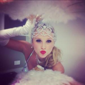 Diamond Dancers - feather fans