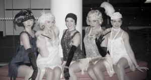 Gatsby Girls at Speakeasy themed event - roving and stage