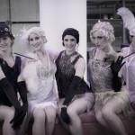 Stylish 1920s Flapper dancers