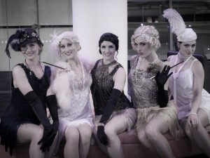 Stylish 1920s Flapper dancers