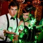 Green Boheme Crystal Juggler