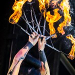 Steampunk fire show