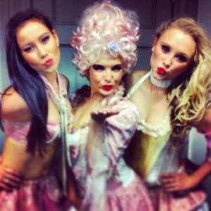 Parisian girls in the dressing room