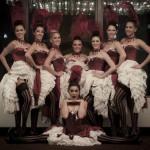 Paris cancan dancers