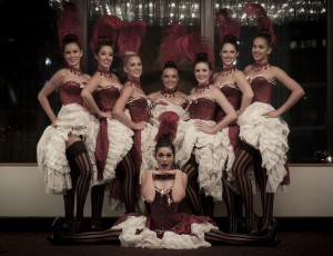Paris cancan dancers