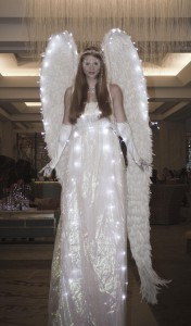 phoenix illuminated stilt walker angel
