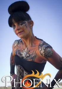 Closeup of Steampunk Bodyart