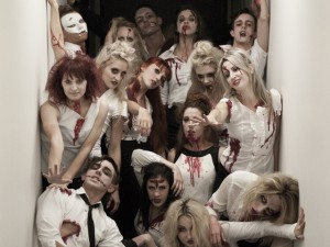 "Special client request for a ""Zombie Flashmob"" for their Friday 13th themed event!"
